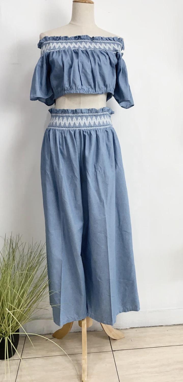 Denim Pants Set