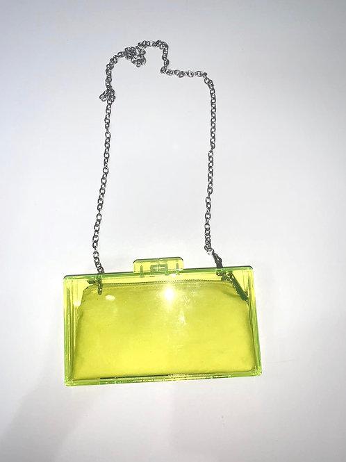 Polyurethane Neon Green Crossbody Bag