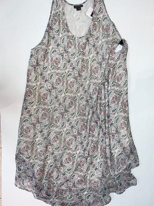 Paisley Print Shift Dress