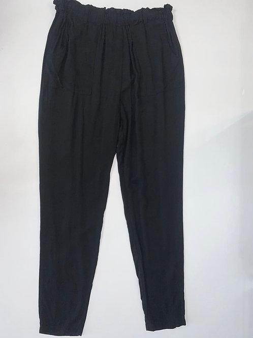 Black Paperbag Waist Pants