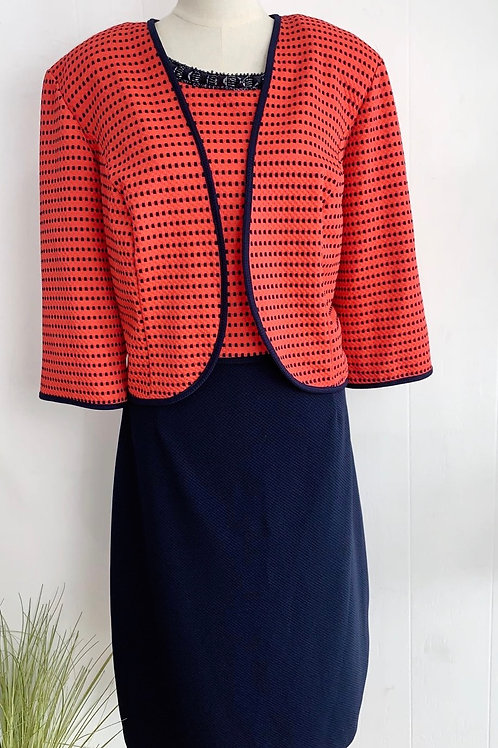 Two piece dress and coat set