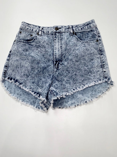Stone Wash Highwaist Denim Shorts
