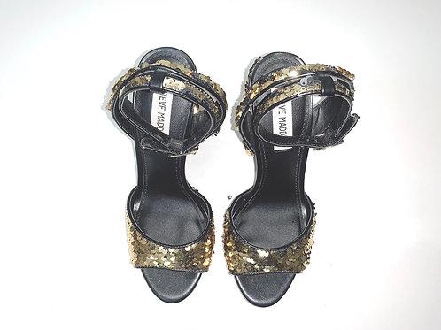 Steve West Sequin Block Heels