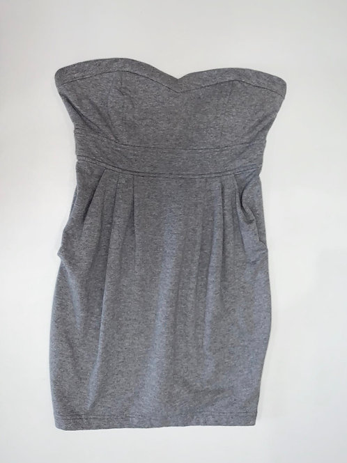 Gray Cotton Dress with Pockets