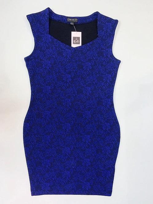 Royal Blue and black Pencil Dress