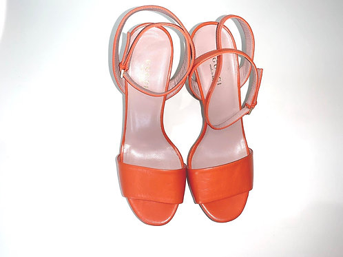 Gucci Orange Platform Heels ITALIAN 37.5