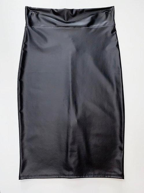 Wet Look Pencil Skirt