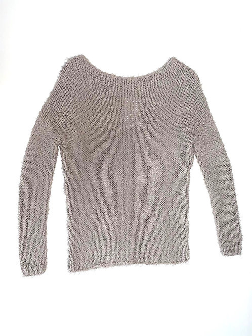 Gray Cotton Knitted Sweater