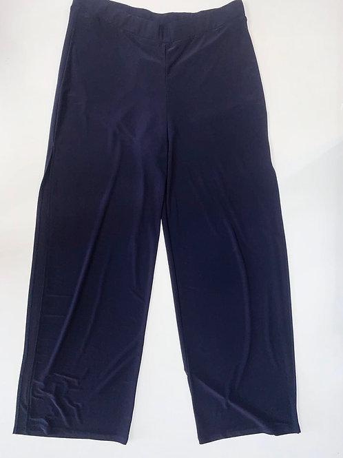 Navy blue Slinky Pants with Side Slits