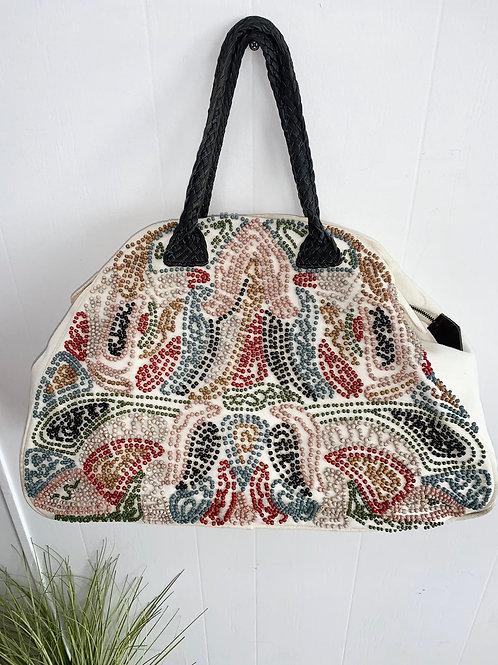 Beaded Canvas Travel Bag
