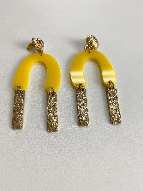 New Moon Yellow Earrings