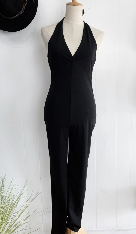 Black Halter Jumpsuit