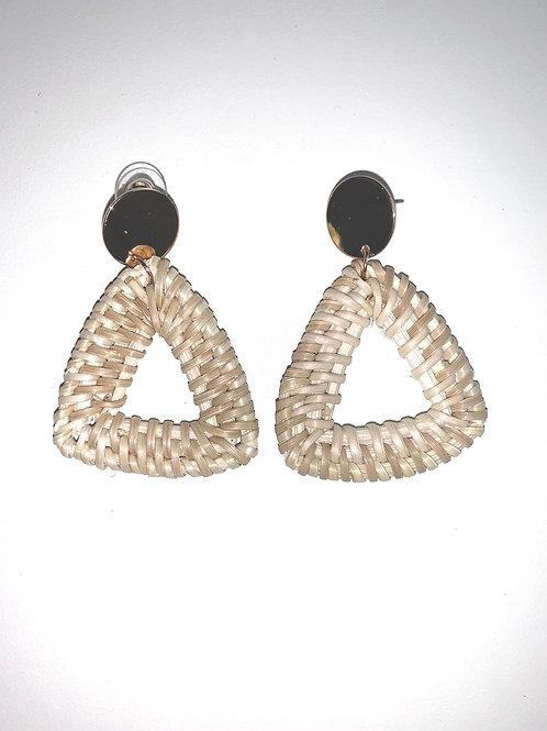 Triangle Wicker Earrings