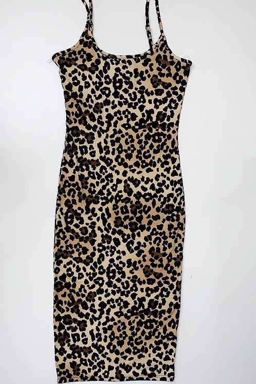 Leopard print bodycon dress