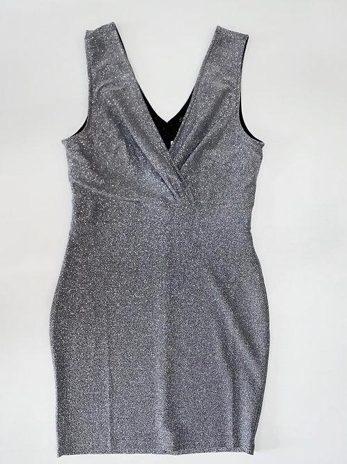 Metallic Silver a Bodycon Dress