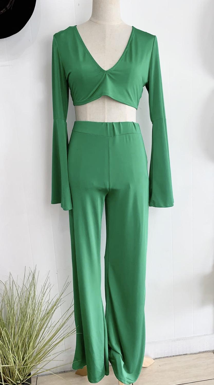 Green Pant Set