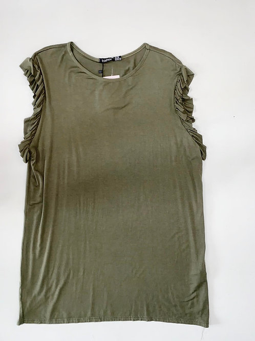 Olive Green Cotton T Shirt Dress