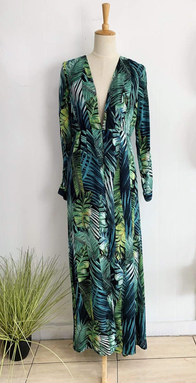 Tropical Print Maxi with Pants