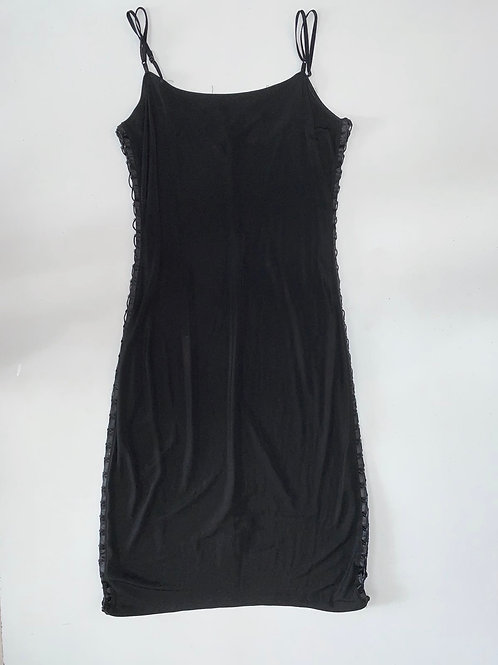 Laced Sides Black Bodycon Dress
