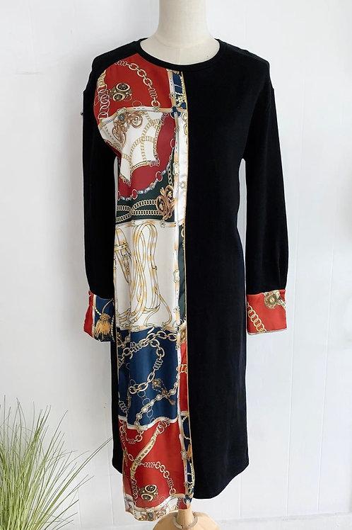 Zara Chain print sweater dress