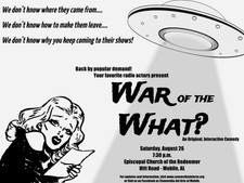 "Commedia del Arte of Mobile presents H.G. Wells' ""The War of the Worlds"" at Episcopal"