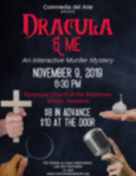 Flyer for Dracula & Me: An Interactive Murder Mystery