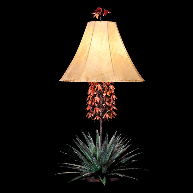 Yucca Lamp Red Blooms