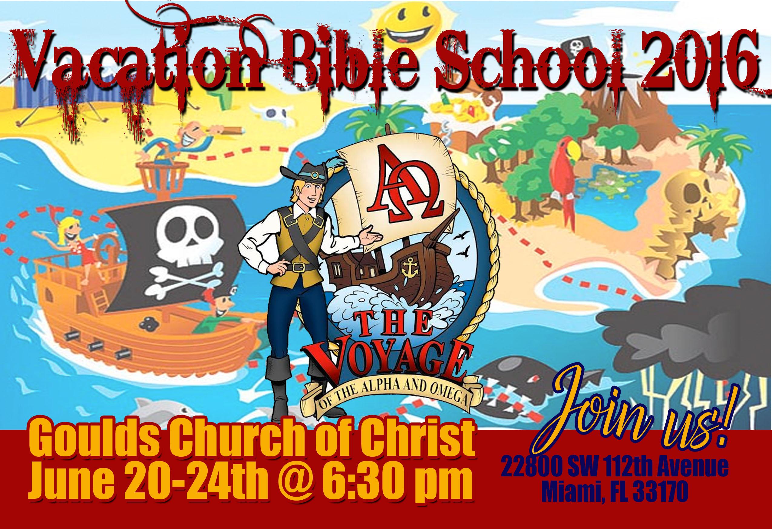 Vacation Bible School flyer