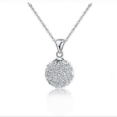 Diamante pendant necklace sparkling ball aloadofball Images