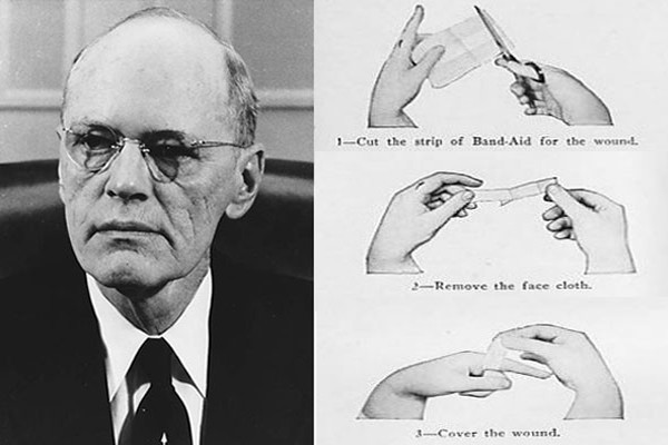 Earle Dickson and original band aid instructions