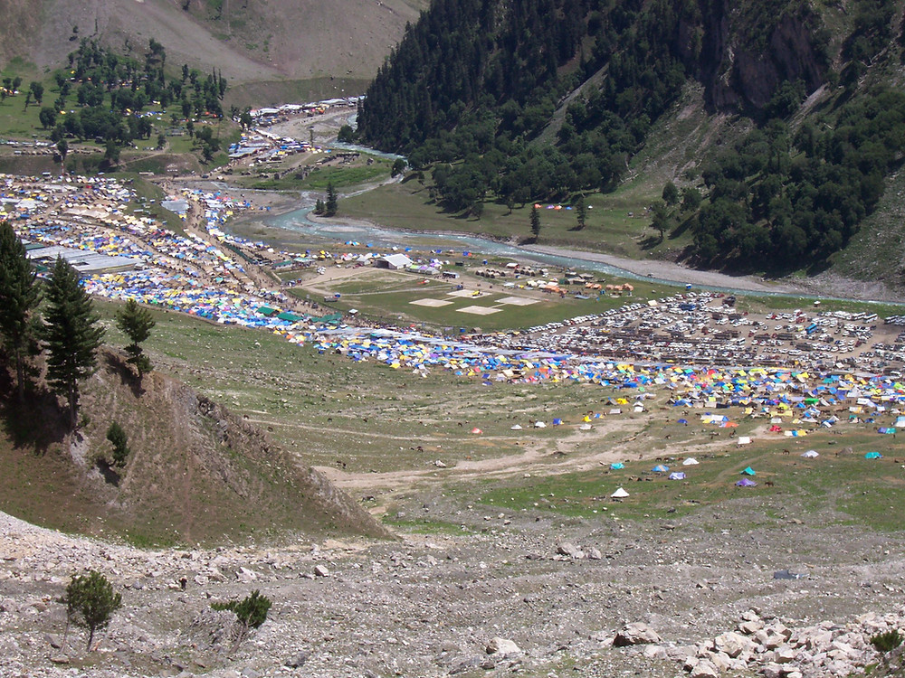 Baltal Base Camp with River Sind