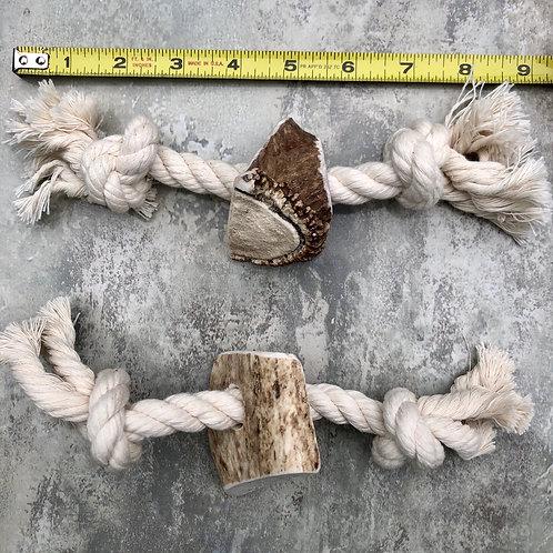 Medium Split Elk Antler Rope Toy