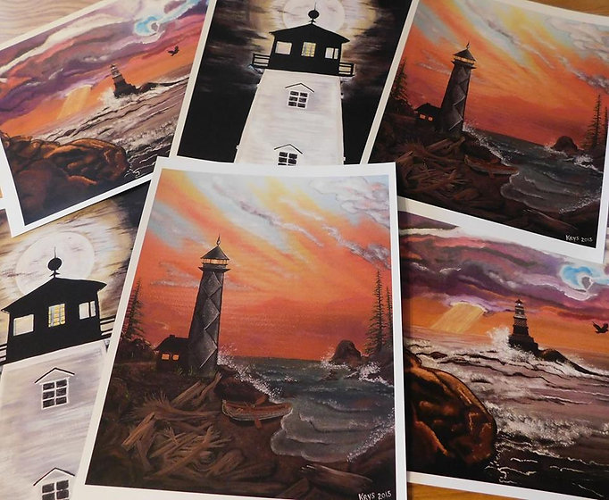 Lighthouse Paintings, by me.