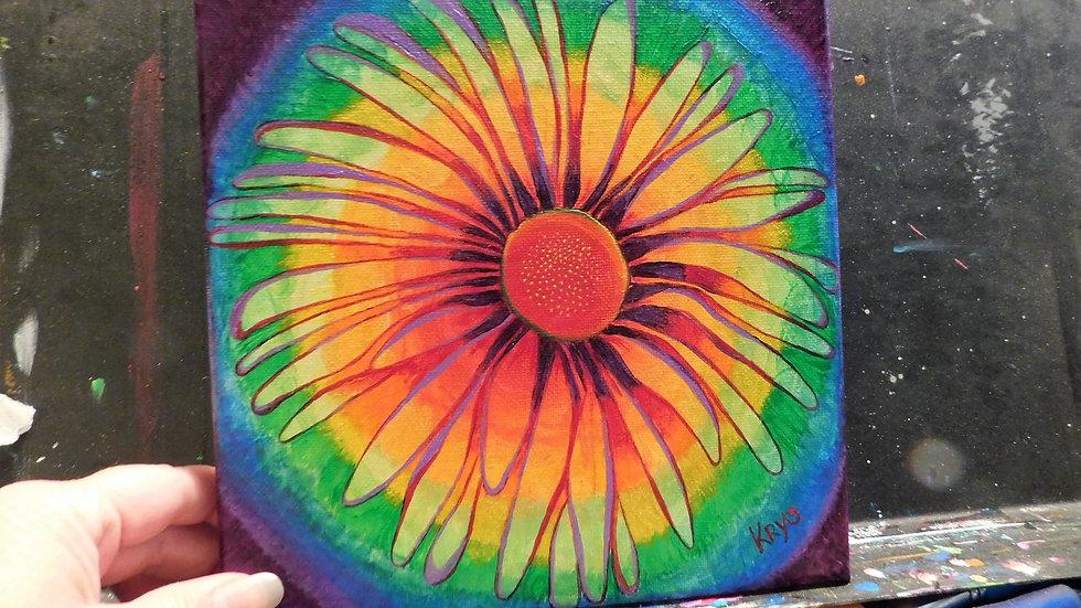 Rainbow Tie-Dye Daisy