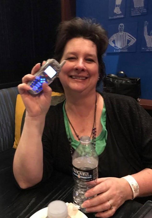 Me & my dinosaur phone.