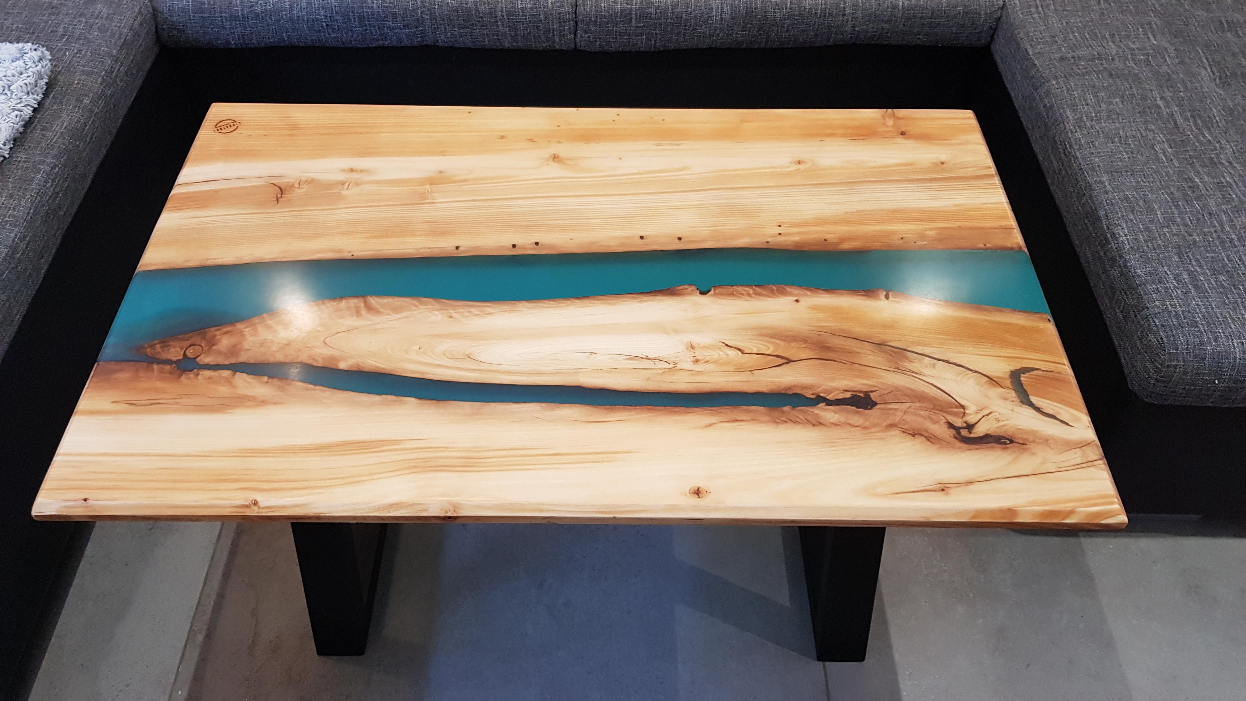 Table En Béton Ciré Et Bois mobilier   signature