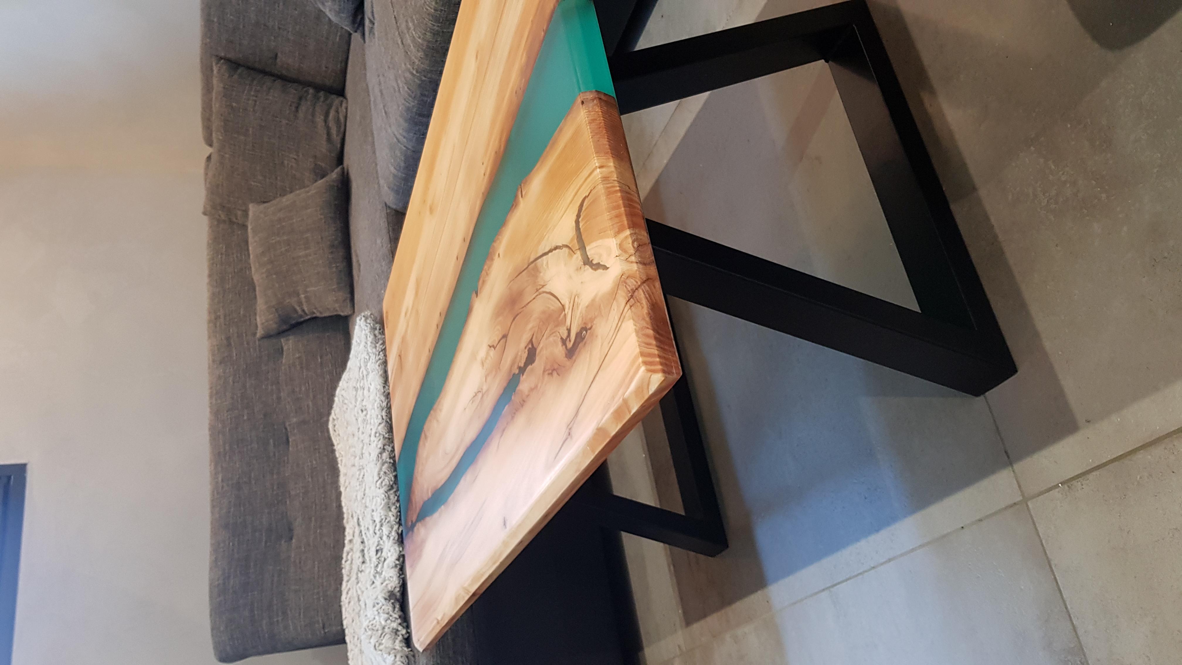 Table En Béton Ciré Et Bois mobilier | signature