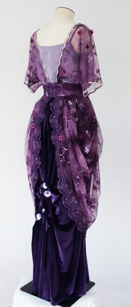 Purple Edwardian style gown