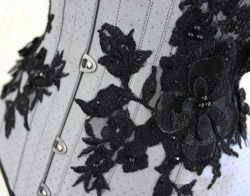grey spot broche underbust corset_edited