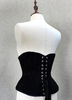 Black underbust corset