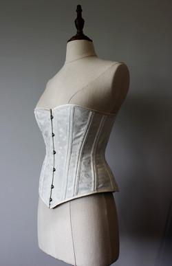 Ivory victorian corset