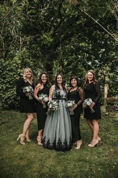 black lace blue tulle custom wedding dress