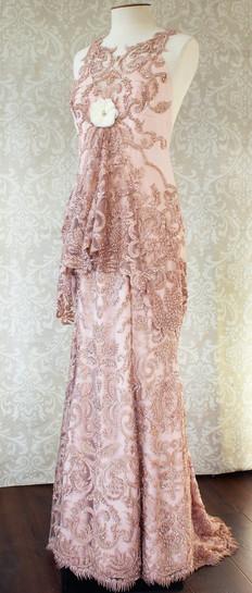 Dusky pink art deco style gown