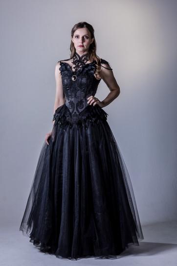 'Raven' corset and skirt