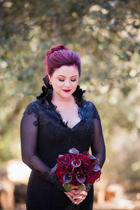 Black raven wedding dress