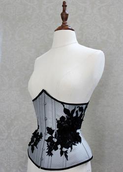 Grey underbust corset