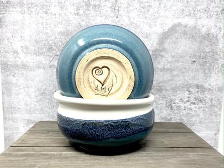 Heart Imprint on Pottery