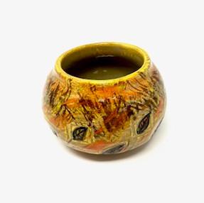 Golden Leaf Autumn Vase