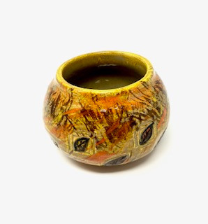 Golden Leaf Autumn Vase