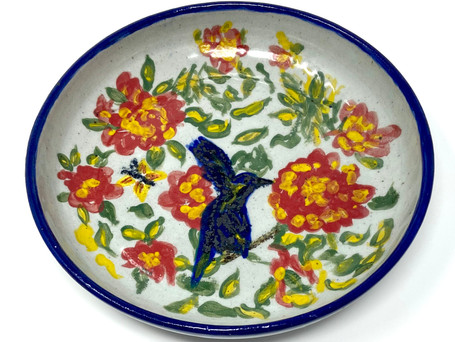 Flowers, Hummingbird & Bee $55